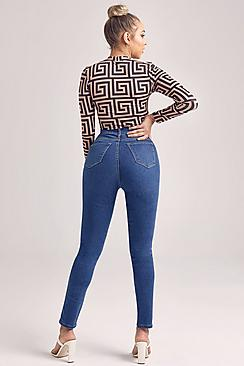 Super High Waist Power Stretch Skinny Jeans