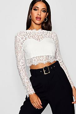 Premium Lace Crop Top