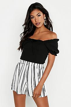 Se  Striped Jersey Shorts ved Boohoo.com