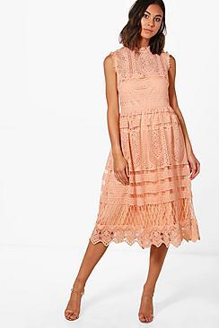 Boutique Lace Skater Bridesmaid Dress