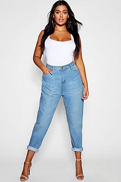 Plus Fabienne High Rise Mom Jeans