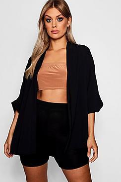 Se  Plus Woven Kimono ved Boohoo.com