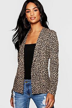 Tall Leopard Print Blazer