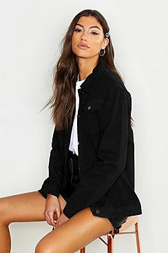 Se  Tall Oversized Denim Jacket ved Boohoo.com