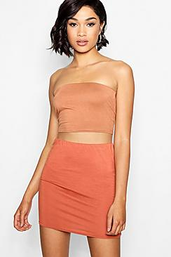 Se  Tall Jersey Bandeau Top ved Boohoo.com