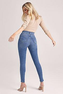 Se  Butt Shaper Mid Rise Skinny Jeans ved Boohoo.com