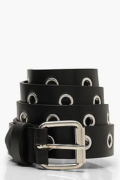 All Over Eyelet Boyfriend Belt