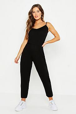Petite Basic Cami Strap Jumpsuit