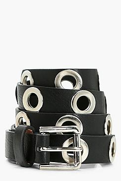 boohoo Eyelet Detail Belt