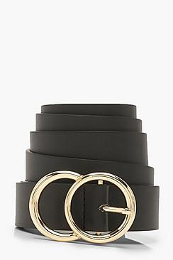 Plus Gold O Ring Boyfriend Belt