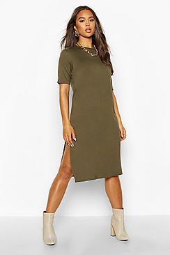 Split Midi T-Shirt Dress