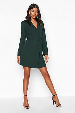 Tall Belted Blazer Dress