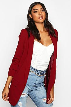 Tall Ruched Sleeve Blazer