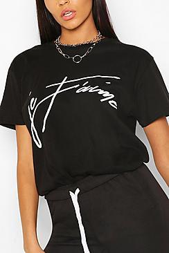 Tall 'Je T'Aime' Slogan T-Shirt