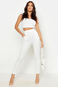 Basic Crepe Stretch Skinny Trousers