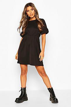 Petite Frill Sleeve Smock Dress
