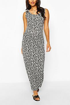 Maternity Ditsy Floral Scoop Neck Maxi Dress
