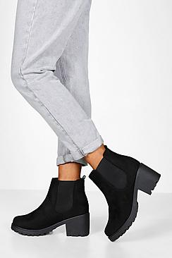 Wide Fit Chunky Chelsea Boots