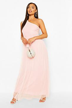 Petite Occasion One Shoulder Maxi Dress