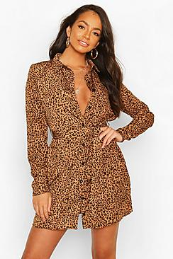 Se  Shirt Dress Animal Print ved Boohoo.com
