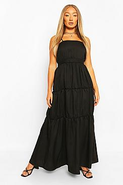 Tiered Strappy Maxi Dress
