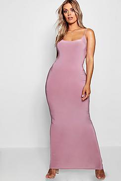 Plus Slinky Strappy Maxi Dress