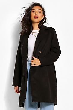 Double Breasted Wool Look Coat