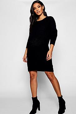 Maternity Soft Knit Jumper Dress