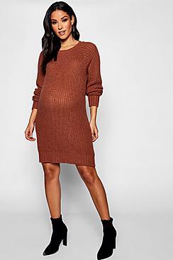 Maternity Soft Knit Jumper Dress