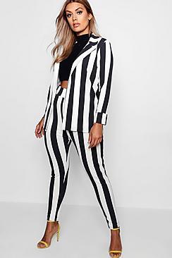 Plus Striped Suit Co-ord