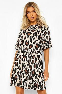 Tall Leopard Print Smock Dress