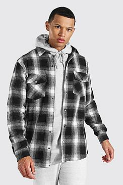 Tall Heavy Weight Check Overshirt