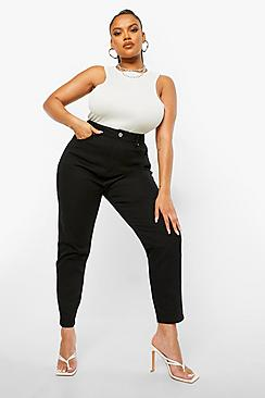 Plus High Rise Mom Jeans