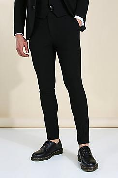 Super Skinny Black Suit Trousers