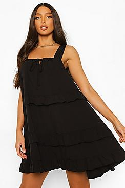 Tall Woven Tiered Swing Dress