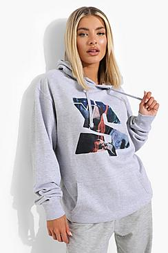 Ty Dolla Sign License Print Oversized Hoodie