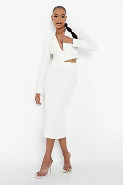 Tailored Midaxi Skirt With Split