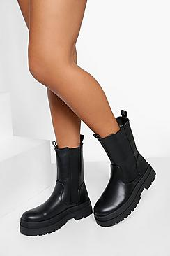 Chunky High Ankle Chelsea Boot