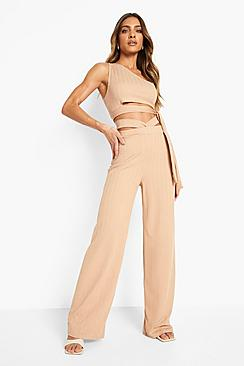 Se  Recycled Cut Out Slinky Rib Co Ord ved Boohoo.com