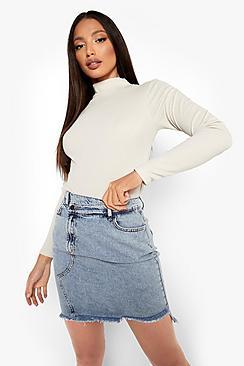 Tall Extreme Distressed Denim Mini Skirt