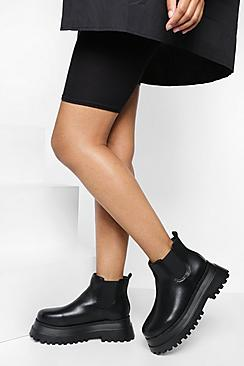 Wide Fit Extreme Chunky Chelsea Ankle Boot