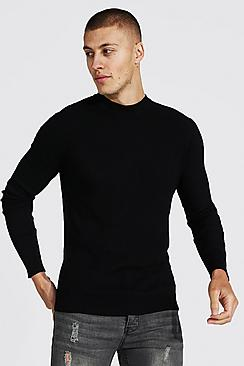 Recycled Regular Turtle Neck Ribbed Jumper