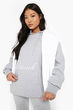 Petite Official Printed Oversized Hoody